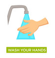 hands washing hygiene and cleanliness medical vector image