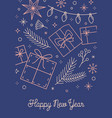 happy new year wishes greeting card template vector image