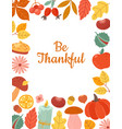 harvest season autumn leaves berries and sweets vector image