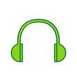 headphones sign lemon vector image