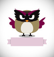Hipster Owl greeting card design vector image