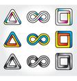 infinite logos vector image vector image