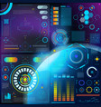 interface hud dashboard futuristic vector image vector image