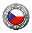 made in czechia flag metal icon vector image vector image