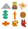 maya civilization ethnic symbols set american vector image vector image