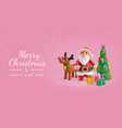 merry christmas rose greeting card vector image