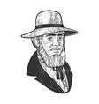 mormon sketch vector image vector image