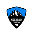 Mountain expedition emblem template with rock