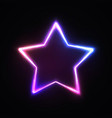 neon light star sign on dark background vector image
