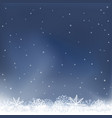 night snow falls background vector image vector image