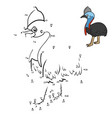 numbers game southern cassowary vector image vector image