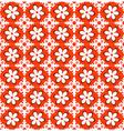 Orange Floral Pattern vector image vector image