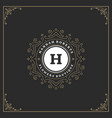 ornament logo design template flourishes vector image vector image