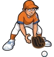 Outfielder vector image