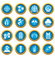 paintball icons blue circle set vector image vector image
