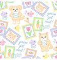 postal pattern vector image