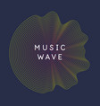 poster sound wave music on vector image vector image