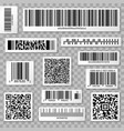 qr codes bar and packaging labels isolated on vector image