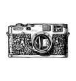 rangefinder camera vector image vector image
