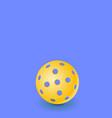 realistic pickleball ball vector image vector image