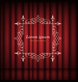 red curtains and vintage frame with copy space vector image vector image