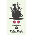 Retro music man vector image