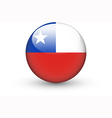 Round icon with national flag of Chile vector image vector image