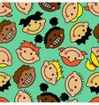 seamless background with faces children vector image vector image