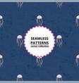 seamless medusa pattern vector image