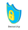 security icon isometric style vector image vector image