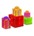 set of color boxes vector image