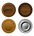 Set of different cupmats or labels for coffee vector image
