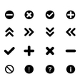 Set of flat icons - arrows and various signs vector image