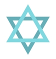 Star of David icon flat style vector image vector image