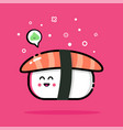 sushi and wasabi vector image