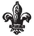 the fleur-de-lis is a heraldic charge borne by vector image vector image
