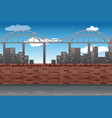 town city view landscape vector image vector image