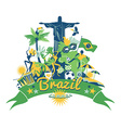 traditional Brazilian items vector image vector image
