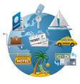 travel concept icon vector image
