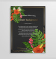 tropical background with flowers vector image vector image
