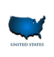 united states country 3d map vector image vector image