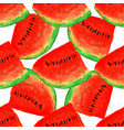 watermelon seamless watercolor pattern juicy vector image