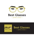 woman eyes with glasses logo in trendy vector image vector image