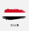 yemen watercolor national country flag icon vector image vector image