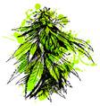 Colored hand sketch of marijuana vector image