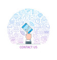 contact us banner3 vector image