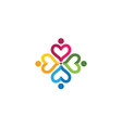 adoption and community care logo vector image vector image