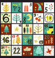 advent calendar count days to christmas poster vector image vector image