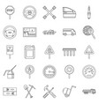 apparatus icons set outline style vector image vector image