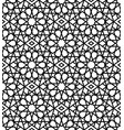 arabic black and white seamless pattern vector image vector image